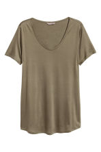 H&M+ Jersey top - Khaki green - Ladies | H&M 2