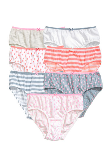 7-pack briefs - White/Striped -  | H&M GB