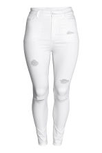 H&M+ Skinny High Jeans - White denim/Trashed - Ladies | H&M CA 2