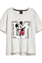 Pyjamas with top and shorts - Light grey/Mickey Mouse - Ladies | H&M 3