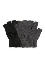 2-pack fingerless gloves - Black - Men | H&M IE 1