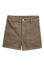Shorts High waist - Khaki - Ladies | H&M 2