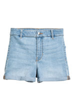 Shorts High waist - Light denim blue - Ladies | H&M CN 2