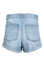 Shorts High waist - Light denim blue - Ladies | H&M CN 3
