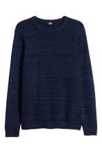 Textured-knit jumper - Dark blue/Marl - Men | H&M 2