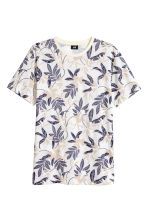 T-shirt - Natural white/Patterned - Men | H&M CN 2