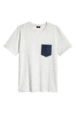 T-shirt - Light grey marl - Men | H&M CN 2
