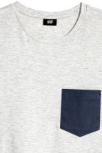 T-shirt - Light grey marl - Men | H&M CN 3