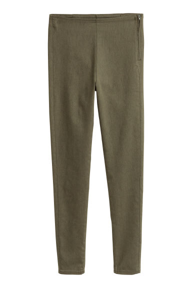 Stretch trousers - Khaki green -  | H&M