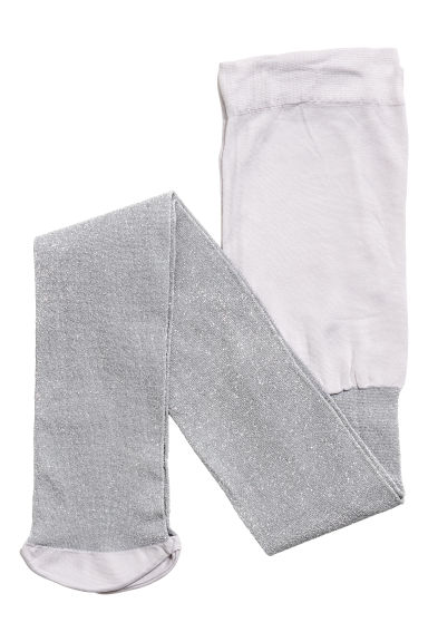 Glittery tights - Silver-coloured - Kids | H&M CN