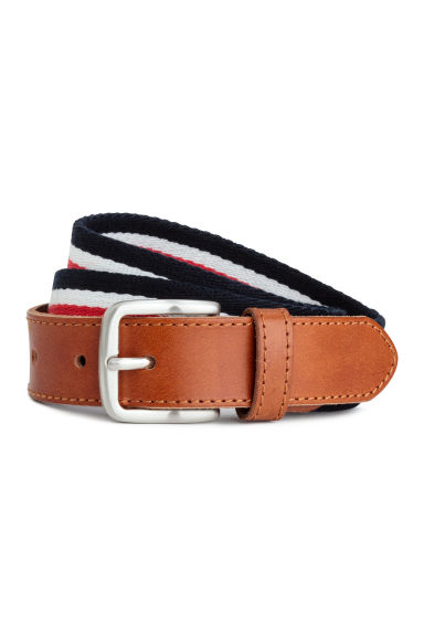 Webbing belt - Red/Dark blue - Men | H&M CN 1