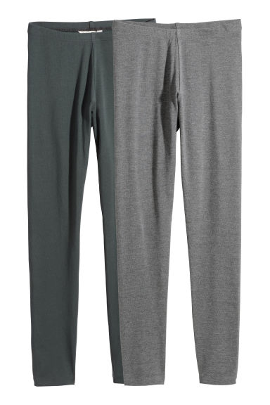 2-pack leggings - Dark grey/Grey -  | H&M