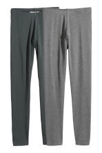 2-pack leggings - Dark gray/gray -  | H&M CA 2