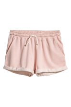 Sweatshirt shorts - Powder - Ladies | H&M CN 2