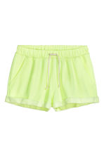 Shorts in felpa - Giallo neon - DONNA | H&M IT 1
