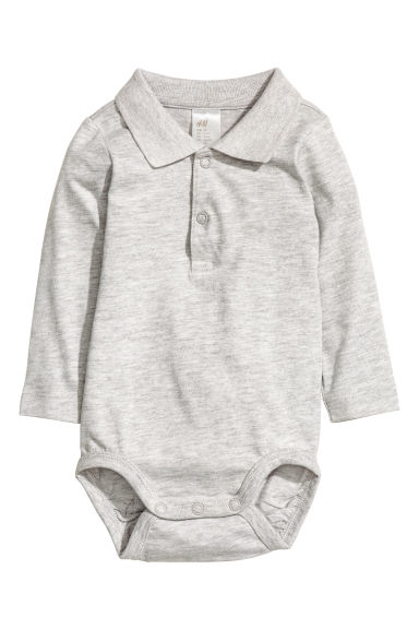 Body en piqué - Gris chiné - ENFANT | H&M BE