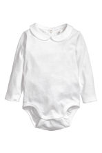 Bodysuit with a collar - White - Kids | H&M CA 1