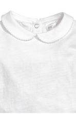 Bodysuit with a collar - White - Kids | H&M CA 2