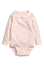 Bodysuit with a collar - Light powder pink - Kids | H&M 1
