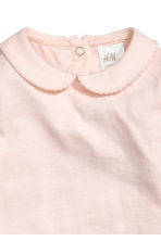 Bodysuit with a collar - Light powder pink - Kids | H&M 2