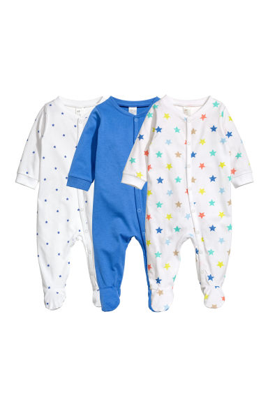 3-pack pyjamas - Blue -  | H&M CN 1