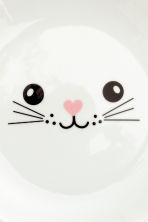 Plate with a print motif - White/Cat - Home All | H&M IE 3