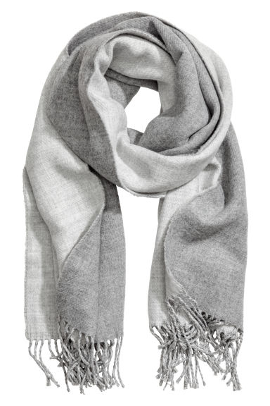 Reversible scarf - Light grey marl -  | H&M