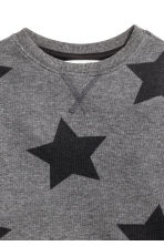 Sweatshirt - Dark grey/Stars - Kids | H&M CN 3