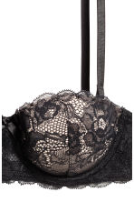 Lace balconette bra - Black/Porcelain - Ladies | H&M CA 3