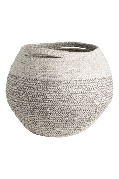 Jute storage basket - Light grey -  | H&M GB