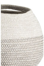 Jute storage basket - Light grey - Home All | H&M CN 2