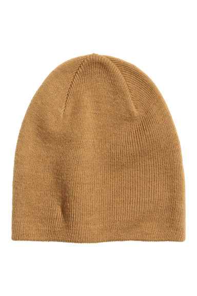 Knitted hat - Camel - Men | H&M GB 1