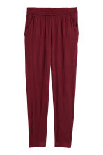 Pull-on trousers - Burgundy - Ladies | H&M 2