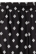 Pull-on trousers - Black/Patterned - Ladies | H&M CN 3
