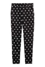 Pull-on trousers - Black/Patterned - Ladies | H&M 2