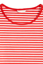 Long-sleeved jersey top - Red/Striped - Ladies | H&M CN 3
