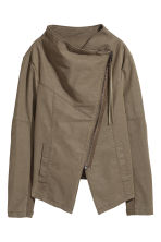 Biker jacket - Khaki green - Ladies | H&M CN 2