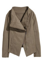 Biker jacket - Khaki green - Ladies | H&M CN 3