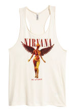Vest top - Natural white/Nirvana - Ladies | H&M CN 2
