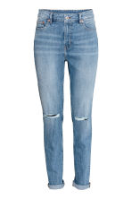 Boyfriend Slim Low Jeans - 牛仔蓝 - 女士 | H&M CN 2