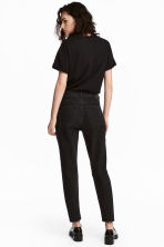 Boyfriend Slim Low Jeans - Black denim -  | H&M 4