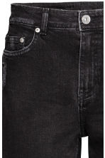 Boyfriend Slim Low Jeans - Black denim -  | H&M 5