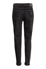 Boyfriend Slim Low Jeans - Black denim -  | H&M 3