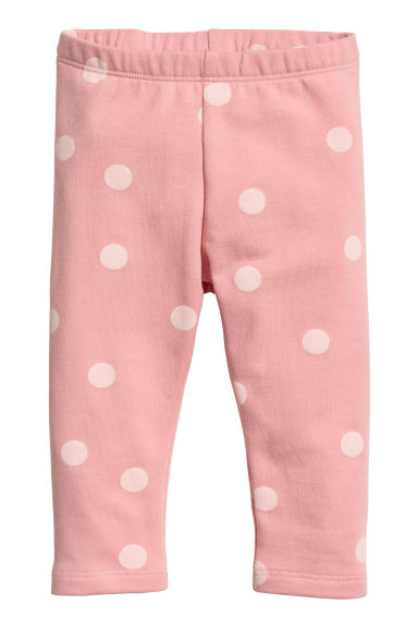 Sweatshirt leggings - Light pink/Spotted - Kids | H&M