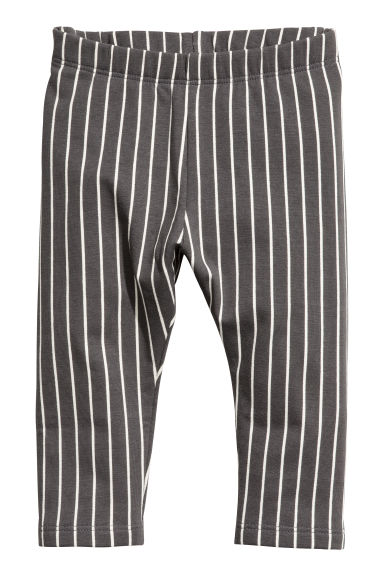 Sweatshirt leggings - Dark grey/White striped - Kids | H&M 1