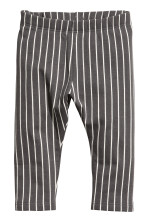 Dark grey/White striped