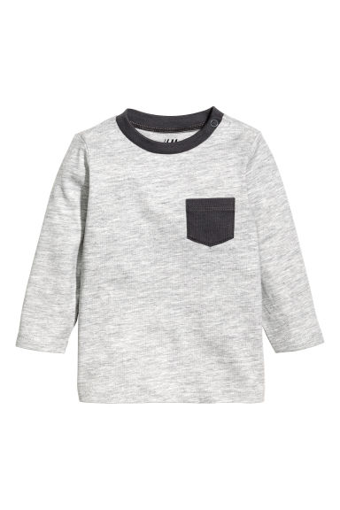 長袖T恤 - Grey marl -  | H&M 1