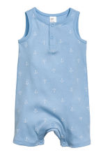 Sleeveless romper suit - Blue/Anchor -  | H&M CN 1