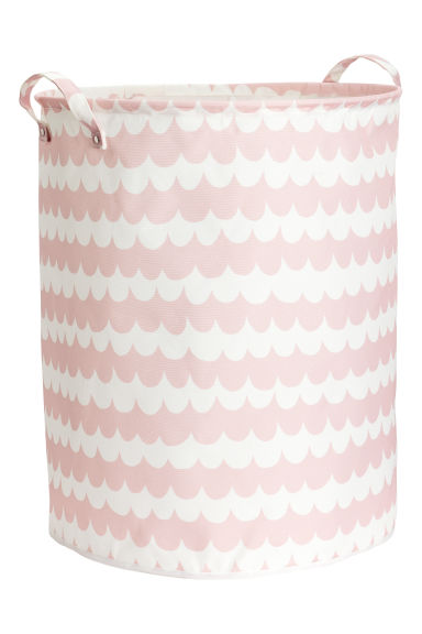 Large storage basket - Light pink/Patterned - Home All | H&M CN 1