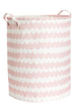 Large storage basket - Light pink/Patterned - Home All | H&M CA 1